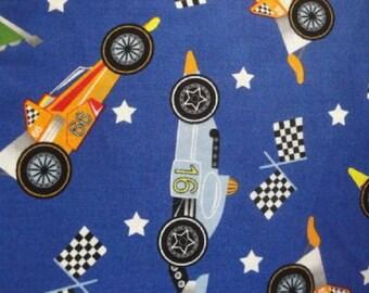 Race Cars & Flags-Blue B/G-Fat Quarter