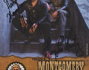 Montgomery Gentry Original Vintage Hand Signed 8X10 Autographed Photo