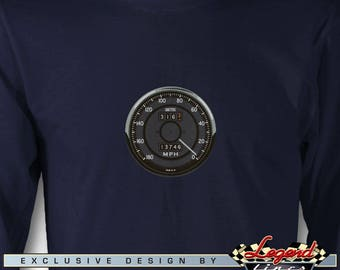Daytona Cobra Replica Long Sleeves T-Shirt - Speedometer - Multiple colors available - Size: S - 3XL - AC Cobra & Replica Roadsters Gift
