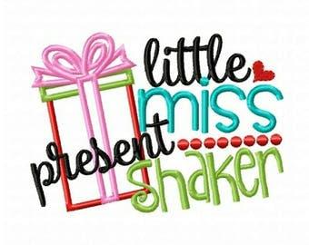 Girls Christmas Shirt - Christmas Present Shirt - Present Shaker - Little Miss Present Shaker
