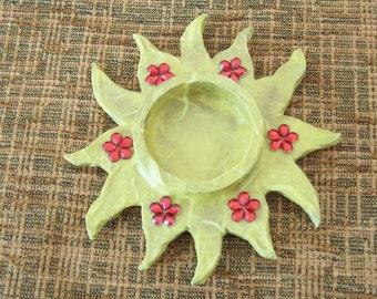 "Candle Holder ""Sun"""