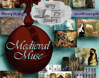 Medieval Muse  GAME of THRONES Journal  Game of Thrones Inspired  Digital  Handmade books  DIY journal  Junk Journal Kit  Printable Journal