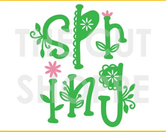 The Hello Spring cut file is a title design that can be used for your scrapbooking or papercrafting projects.