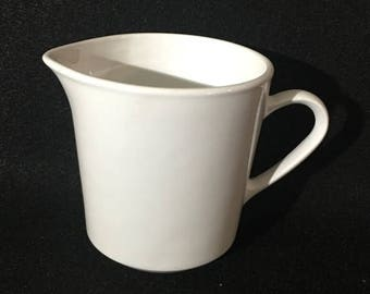 ON SALE Pyroceram by Corning WHITE Creamer All White Dinnerware Excellent Condition Made in Usa