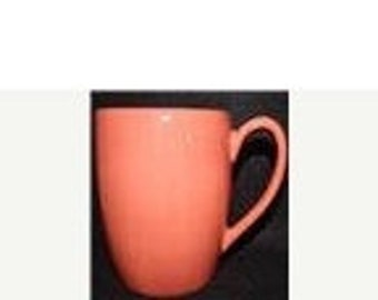 """ON SALE Tabletops Unlimited, ESPANA Brick Red, Large Mug, Hand Painted, Hand Crafted, Dinnerware, Near Mint Condition, 4 3/4"""" tall"""