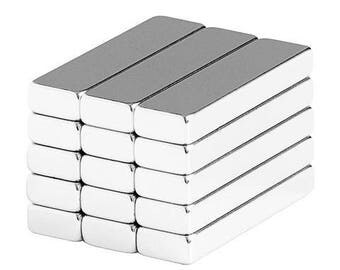 1 x 1/4 x 1/8 Inch Neodymium Rare Earth Bar Magnets N48 (15 Pack)