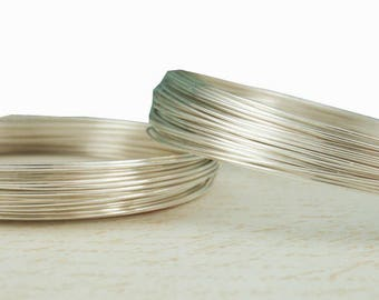 1 foot/10 feet 20 gauge, 925 Sterling Silver Wire,  ROUND, Dead Soft -WC0141