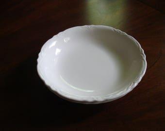 Homer Laughlin Antique REPUBLIC Ironstone Coupe Soup Bowls (2)!