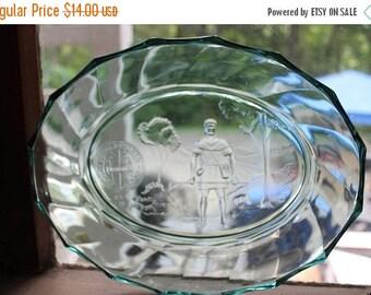 SALE Heisey Glass by Mosser HCA Collector Oval Bowl in twist Pattern - Newark Ohio Bicentennial