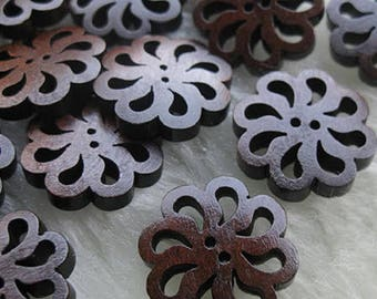 wood buttons sewing 20 mm
