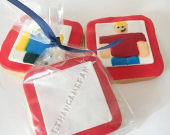 Roblox Sugar Cookies Personalized with Fondant and Icing Decorations - 1 Dozen