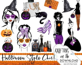 halloween fashion clipart png file watercolor halloween fashion clip art set halloween fashion planner girl png halloween fashion clipart