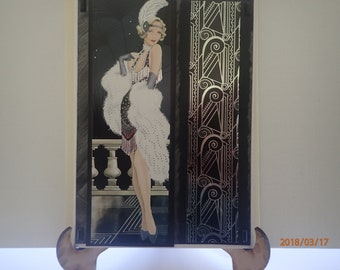 Glitzy flapper handmade card suitable for a female