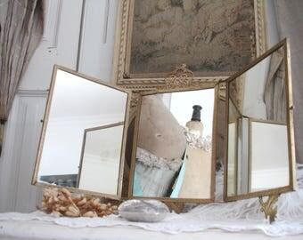 Antique french mirror - Triptych