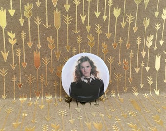 Hermione Granger, Harry Potter button, 1.5 inch pin back button, 37 mm pin back button