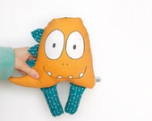 Essential Oil Diffuser: Smelly Face- Orange Dinosaur with galaxy back