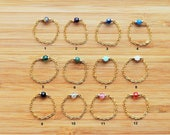 Bague chaine plaqué or 14 carats perle Swarovski Elements