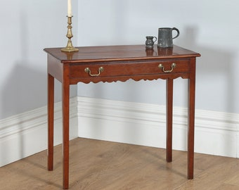 Antique English Georgian Figured Mahogany Occasional Hall Side Table (Circa 1790)