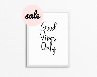 Good Vibes Only / good vibes / good vibes only Print / good vibes only wall / good vibes print / yoga prints / yoga poster / yoga art