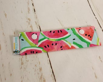 "Watermelon Short Needle Cozy DPN Holder - needle project holder 7""x2""- (Hold up to 6"" Needles) NCS0033"