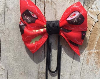 Kawaii Sushi Cute Red and Green Bow Planner Clip
