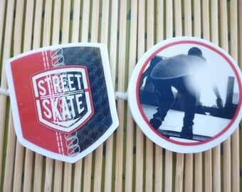 """Erasers geometric shape on the theme for the back to school """"SKATE PARK"""", sold by 2."""