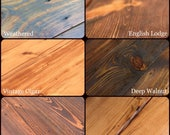 Stain Samples --Example Finishes--Swatches--Color Choices--Stain Colors--iReclaimed Finish Options Colors Choices Wax Clear Satin Semi-Gloss