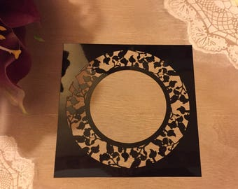 For crafting fine stencil painting Model circle leaf