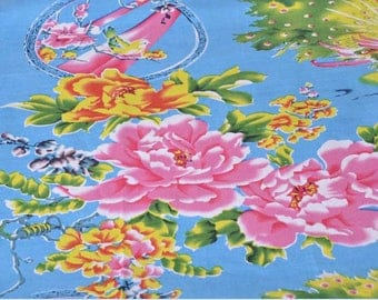 Chinese dragon Peacock happiness 5 m cotton fabric