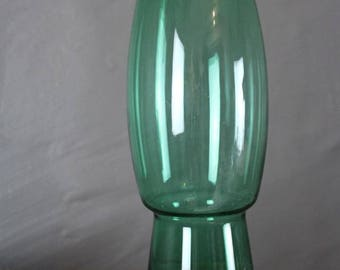 Riihimaki Retro Green Glass Vase