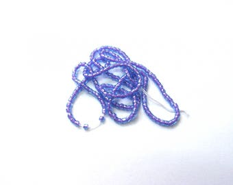 1 STRAND BEADS FACETED LILAC PINK 1 MM 35 CM