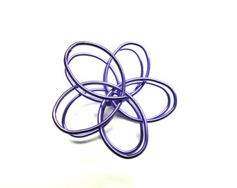 2 FLOWERS DOUBLE ROD METAL LILAC 35 MM