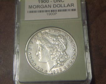 "Uncirculated 1900 ""P"" MORGAN SILVER DOLLAR"