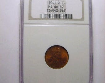 MS 66 GEM 1941-D Lincoln Cent