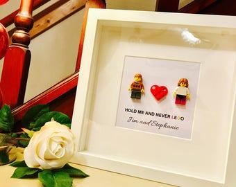 Lego® gift- personalised frame