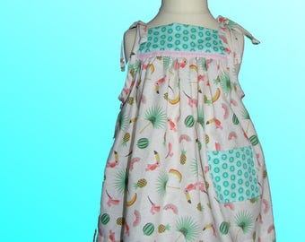 Summer dress with matching diaper cover bloomer panties size 18 months