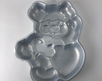 Popples Cake Pan, Wilton #2105-2060, Vintage 1985, heart design