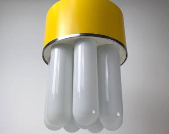 Unique italian design space age chandelier from the late 1960 - contemporary unique vintage hanging light made in Italy