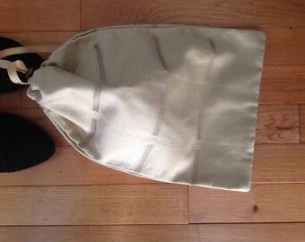 Drawstring Bag - One of A Kind Shoe Bag - Men's Shoe Bag - Ballroom Dance Shoe -  Ballroom shoe bag -  Gift for Him -  Gift Bag - #101