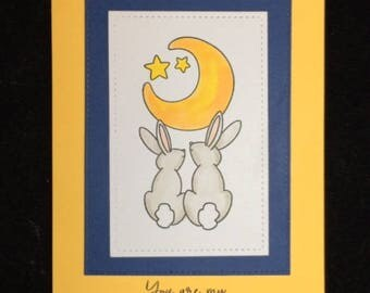 You Are My Moon & Stars Greeting Card