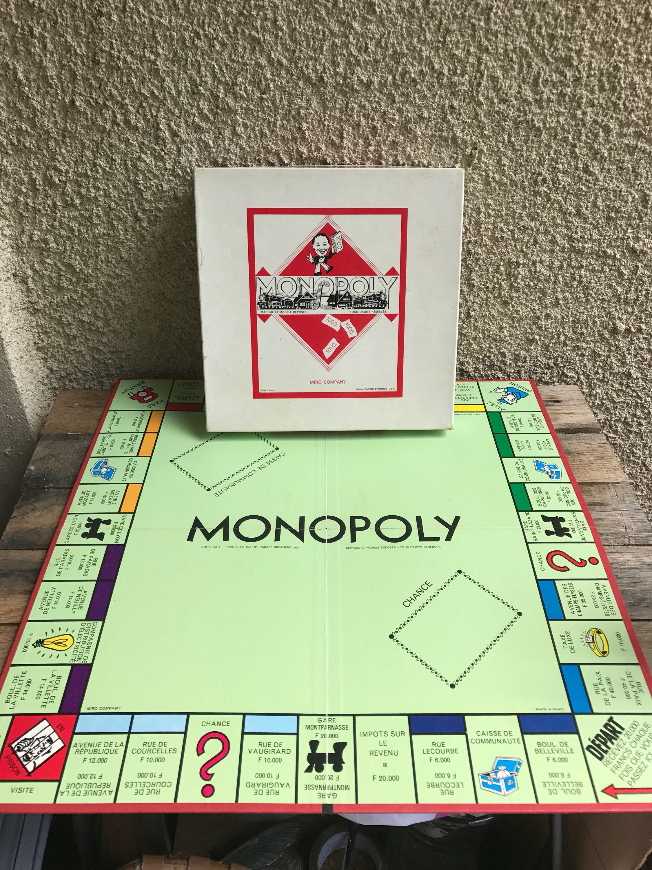 Game Old Monopoly Miro Ref 011 Instructions And Original Box