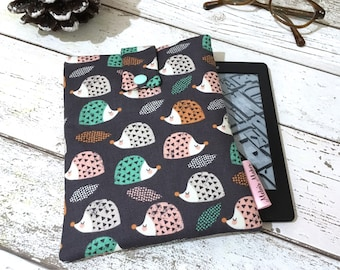 Pastel Hedgehog Kindle Cover, Kindle Oasis Paperwhite, Voyage, Fire 7 8 10 Sleeve. Padded Tablet Case, eReader eBook Bag, Travel Pouch