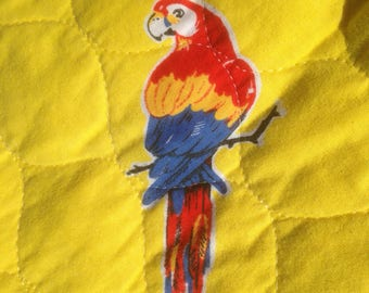 Four Vintage Scarlet Macaw Placemats