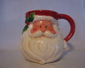 Large Santa Face Mug