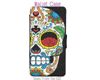 Sugar skull iPhone 6 Case - sugar skull iPhone 6 Wallet Case - Sugar skull iPhone 6S Case - sugar skull iPhone 6S Wallet Case
