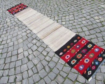 kilim rug runner, 21''x115'' 54x293cm,tribal kilim rug runner,vintage rug runner,storage sack,camel bag,
