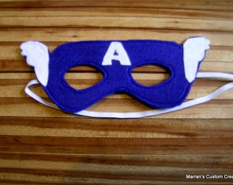 Felt superhero masks, turles, captain america, spiderman, ironman, hulk, batman, one side fits most kids, dress up, costume, birthday party