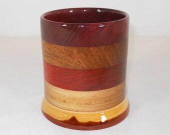 Wood Pencil Holder, Wooden Pen Cup, Office Desk Organizer (#159)