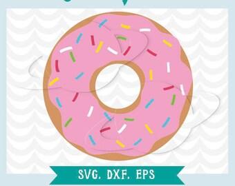 Donut svg, donut dxf, donut eps, donut stencil, donut clip art, donut illustration, donut transfer