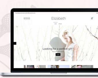 Clean Shopify Theme - Elizabeth   Shop Theme, E-commerce Website Design, Shopify Template, Shopify Website Design, Shopify Boutique Site